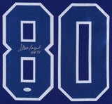 "Steve Largent Signed Seattle Seahawks 35x43 Framed Jersey Inscribed ""HOF 95"" JSA"