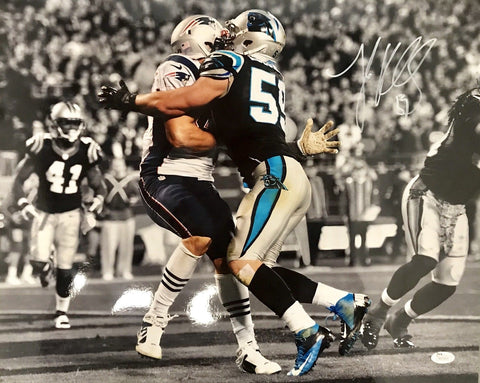 Luke Kuechly Carolina Panthers Signed 16x20 Photo JSA