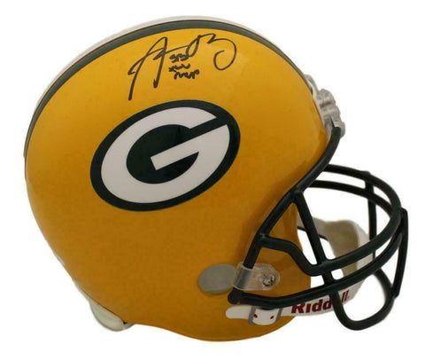 Aaron Rodgers Autographed Green Bay Packers Replica Helmet MVP JSA
