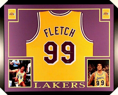 "Chevy Chase Signed,Framed & Matted 35* x44* ""Fletch"" Lakers Jersey / Stiener COA"