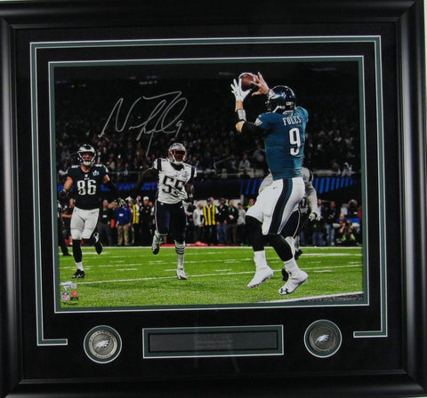 Nick Foles Eagles Super Bowl LII Auto/Signed 16x20 Photo Framed Fanatics