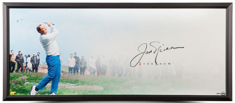 "JACK NICKLAUS Autographed The Show ""The Drive"" Framed Display Piece UDA"
