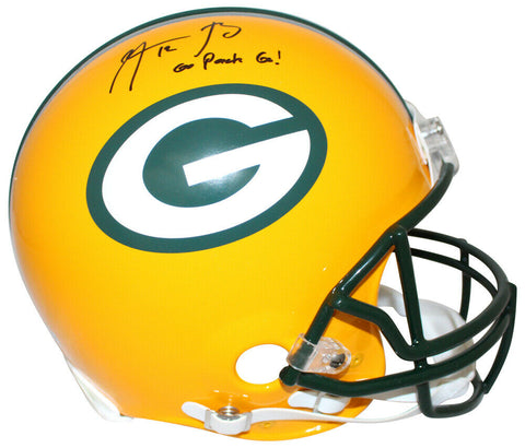 Aaron Rodgers Signed Green Bay Packers Authentic Helmet Go Pack Go!