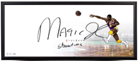 "MAGIC JOHNSON Hand Signed Framed ""The Show"" 46 x 20 Photo UDA"