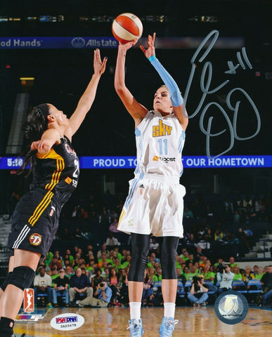 Elena Delle Donne Sky Shooting Signed 8x10 Photo Autograph Auto PSA/DNA