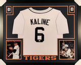 "Al Kaline Signed Tigers 43 x35"" Custom Framed Jersey (JSA) World Series Champion"