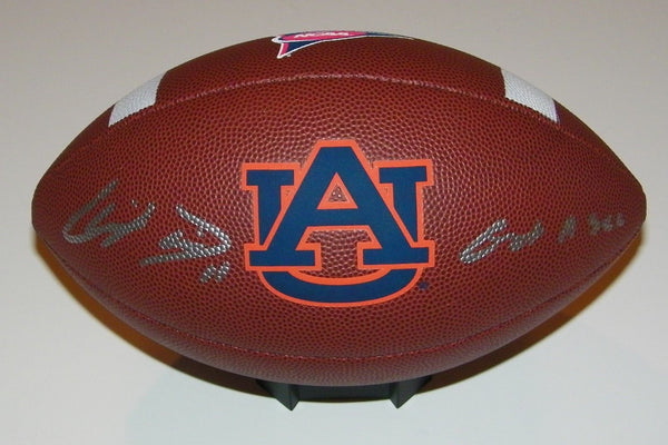 Chris Davis Jr Signed Auto Auburn Tigers NCAA Logo Football w/Got a Sec