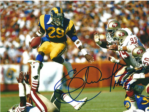 3a82933309d Eric Dickerson Autographed Los Angeles Rams 8x10 Photo W/ HOF- JSA