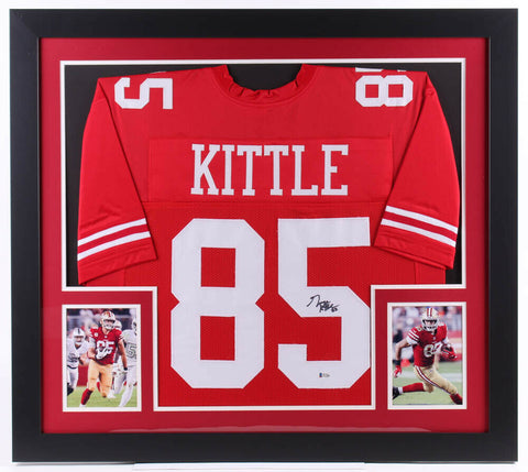 George Kittle Signed San Francisco 49ers 31x 35 Custom Framed Jersey