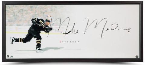 "MIKE MODANO Autographed ""The Show"" Framed 46 x 20 Lithograph UDA"