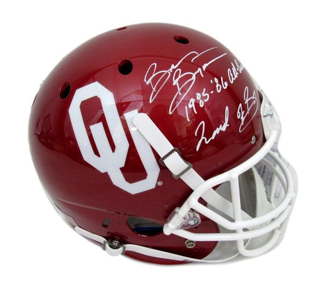 Brian Bosworth Oklahoma Full Size Signed Schutt Helmet Inscribed JSA 131510