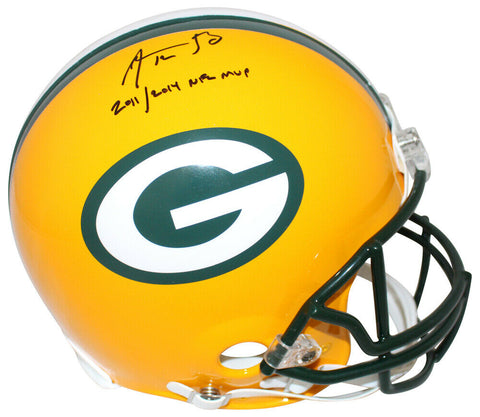 Aaron Rodgers Signed Green Bay Packers Authentic Helmet 2x NFL MVP