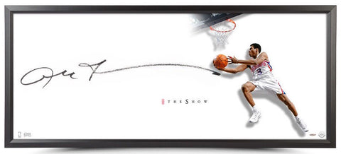 "ALLEN IVERSON Autographed ""The Reverse"" Framed Show 46 x 20 Display UDA"
