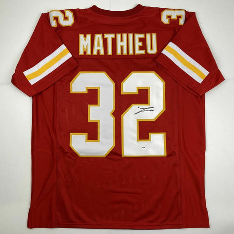 Tyrann Mathieu Autographed Kansas City Red Pro Style Jersey- PSA/DNA Authenticated