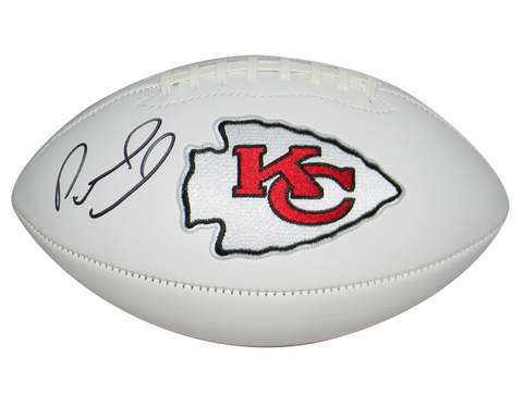PATRICK MAHOMES AUTOGRAPHED KANSAS CITY CHIEFS WHITE LOGO FOOTBALL BECKETT