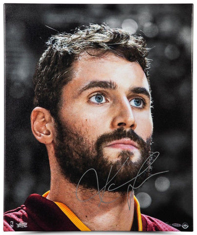 "KEVIN LOVE Autographed ""Up Close & Personal"" 20 x 24 Framed Canvas UDA LE 25"