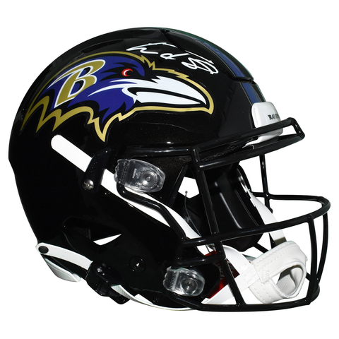 Lamar Jackson Signed Baltimore Ravens Authentic Full-Size Speed Flex Football Helmet JSA Auth