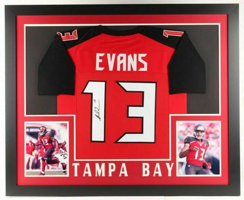 Mike Evans Signed Buccaneers 31x35 Custom Framed Jersey (JSA) Tampa Bay W.R.