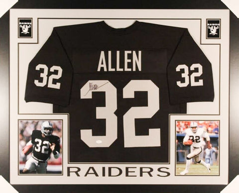 Marcus Allen Signed Raiders 35x43 Custom Framed Jersey (JSA COA)