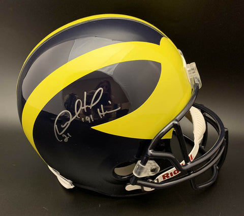 "Desmond Howard Signed Michigan Wolverines Full Size NCAA Helmet with ""Heisman 91"" Inscription PSA/DNA"