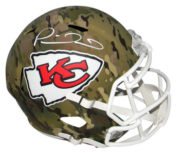 Patrick Mahomes Signed Kansas City Chiefs Camo Full Size Speed Helmet Beckett