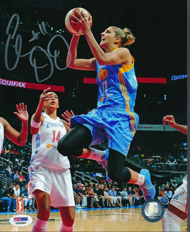 Elena Delle Donne Sky Layup Signed 8x10 Photo Autograph Auto PSA/DNA