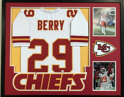 "Eric Berry Signed Chiefs 34"" x 42"" Custom Framed Jersey (JSA) 5x Pro Bowl Safety"