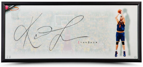 "KEVIN LOVE Autographed Framed ""The Show"" 46 x 20 Photo UDA"