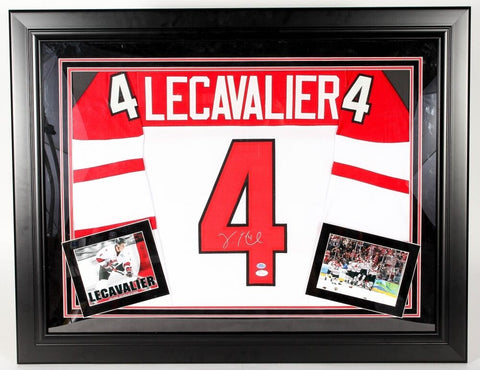 Vincent Lecavalier Signed Team Canada 28x36 Custom Framed Jersey Display JSA COA