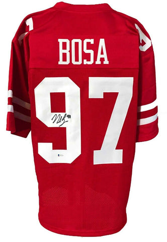 Nick Bosa Autographed 49ers Pro Style Red Jersey