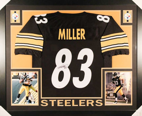 Heath Miller Signed Pittsburgh Steelers 35x43 Framed Jersey (PSA / DNA COA)