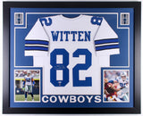 Jason Witten Signed Cowboys 35x43 Custom Framed Jersey (Beckett & Witten Holo)