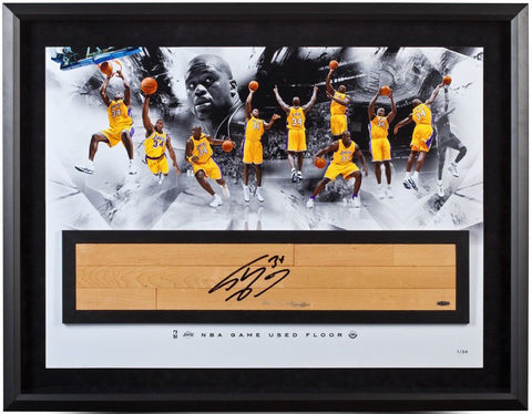 "SHAQUILLE O'NEAL 'SHAQ' Signed Framed ""Game Used"" Floor Collage UDA LE 34"