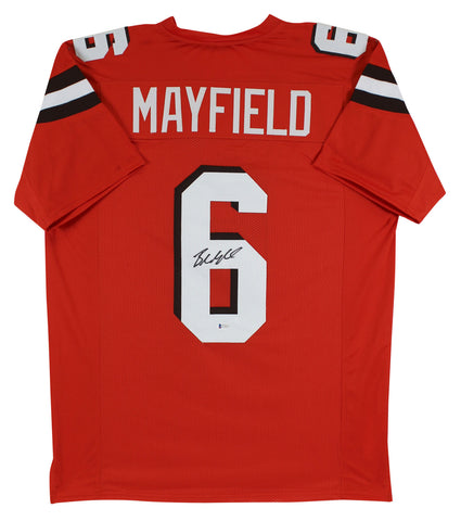 Baker Mayfield Authentic Signed Orange Pro Style Jersey BAS Witnessed