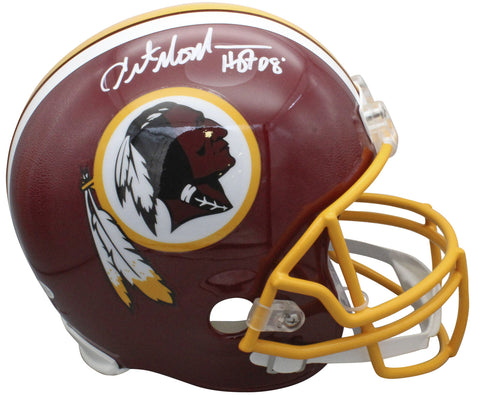 "Redskins Art Monk ""HOF 08"" Authentic Signed Full Size Rep Helmet BAS Witnessed"