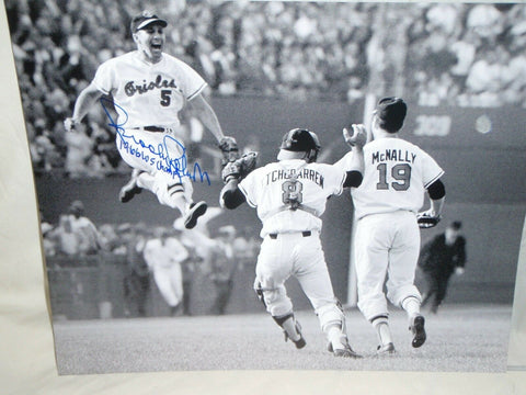 BALTIMORE ORIOLES BROOKS ROBINSON AUTOGRAPHED 16X20 -1966 W/S CHAMPS JSA