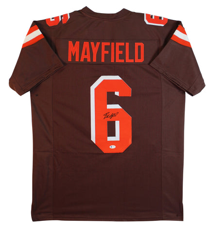 Baker Mayfield Authentic Signed Brown Pro Style Jersey Autographed BAS Witnessed