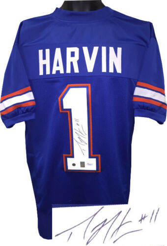 Percy Harvin Signed Autographed Blue Jersey- JSA Auth