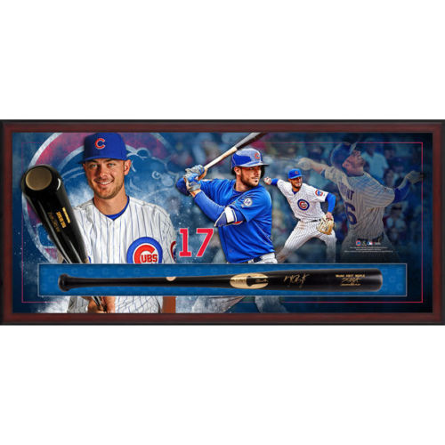 KRIS BRYANT Autographed Game Model Bat Framed Collage FANATICS