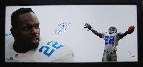 "EMMITT SMITH Signed Inscribed 3x Champ Framed ""The Show"" TRISTAR LE 1/22"