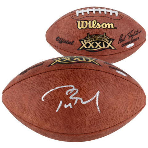 TOM BRADY Hand Signed Authentic Offical Super Bowl 39 Football TriStar