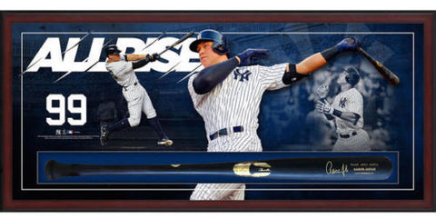 AARON JUDGE Signed New York Yankees Framed Bat Collage Shadowbox FANATICS