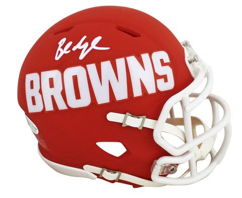 Browns Baker Mayfield Authentic Signed AMP Speed Mini Helmet BAS Witnessed