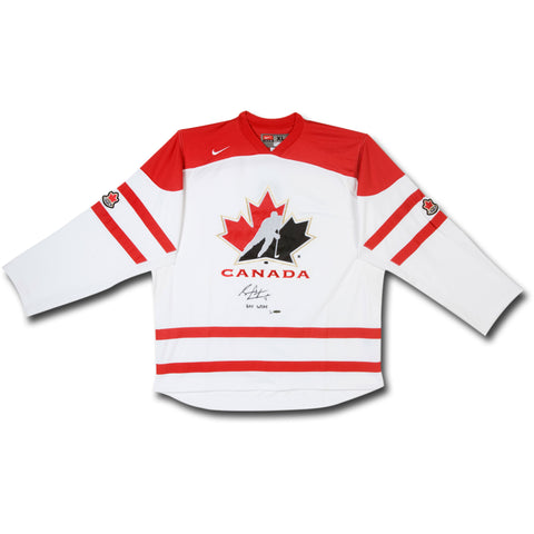 Sean Couturier Autographed & Inscribed Limited Team Canada Replica Away Jersey