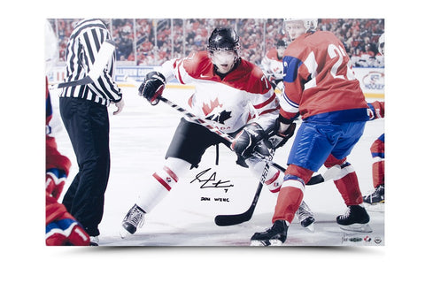 Sean Couturier Signed & Inscribed Team Canada Hockey Picture