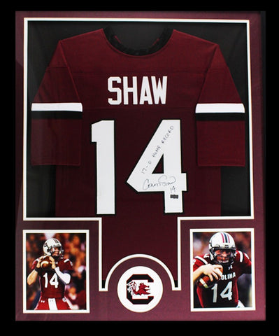 522ffd93b Connor Shaw Signed South Carolina Framed Custom Jersey With