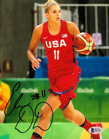 Elena Delle Donne Team USA Signed 8x10 Photo Beckett