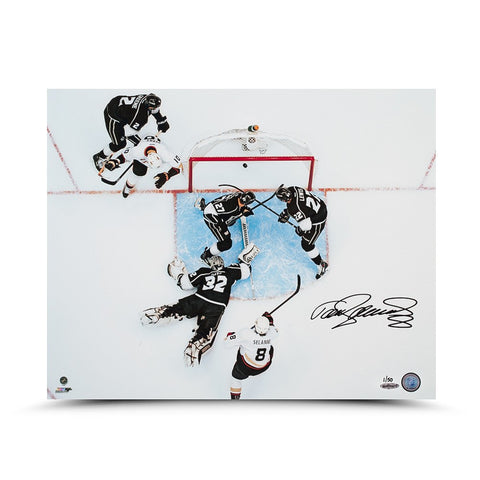 Teemu Selanne Autographed Aerial View Photo