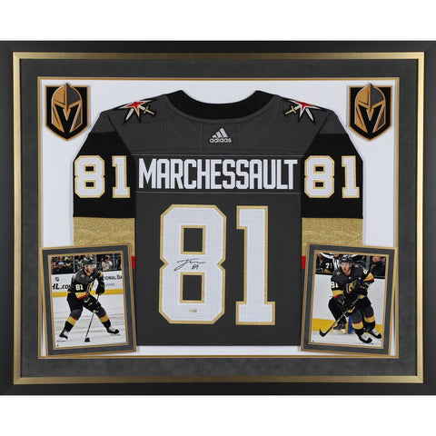 Jonathan Marchessault Vegas Golden Knights Deluxe Framed Autographed Black Adidas Jersey