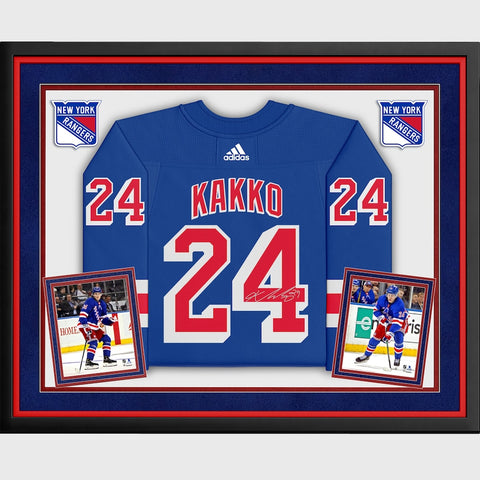 Kaapo Kakko New York Rangers Deluxe Framed Autographed Blue Adidas Authentic Jersey